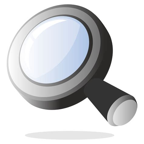 vector for free use 3d magnifying glass