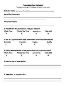 Simple presentation feedback form simple evaluation form google