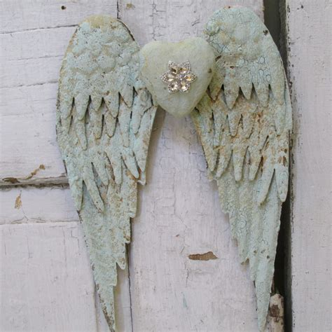 angel home decor distressed angel wings wall hanging home decor painted sea
