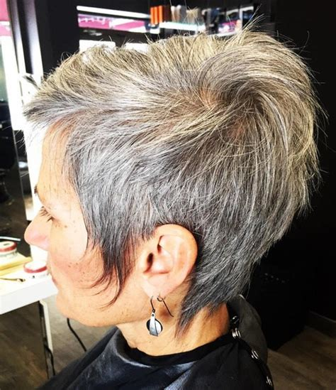 short styles for thick grey hair 50 gorgeous hairstyles for gray hair