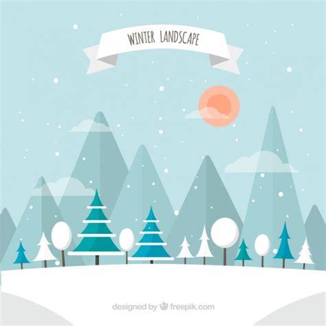 winter images winter landscape vector premium