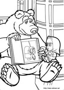 dibujos colorear masha el oso
