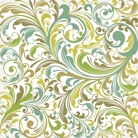 European Pattern Background | european plant pattern background vector 5 free vector