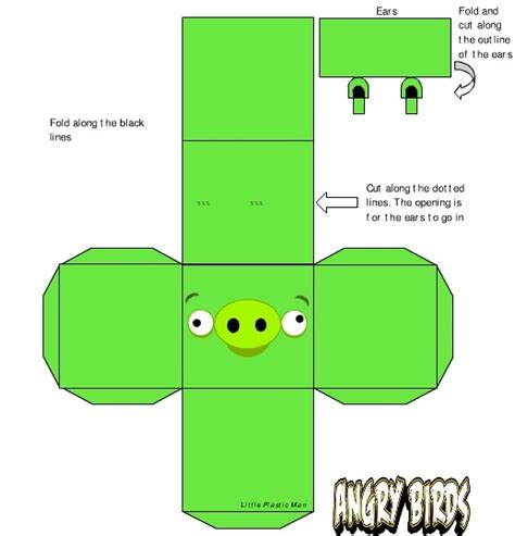 3d Foldable Papercraft Templates - angry birds 3d foldable shapes would be great to use with
