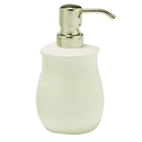 innova waterford ceramic lotion dispenser in white ct