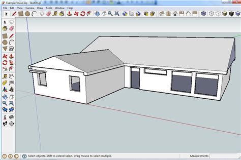 home design using google sketchup google sketchup house simple sketch building plans