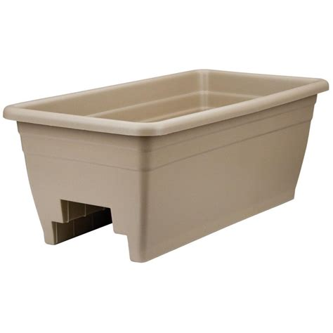 Planter Akro 24 Quot Deck Box Planter Flower Pot Hunter Green Deck Rail Planter Boxes