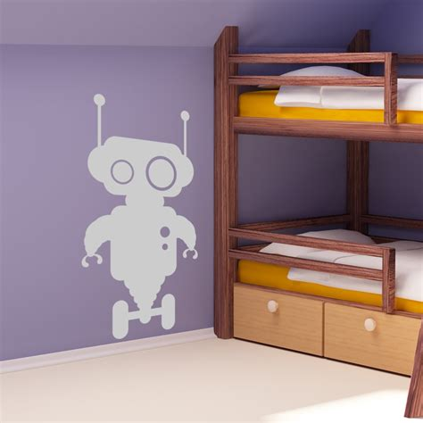 Wheels Wall Stickers Uk Robot Wall Stickers Vinyl Wall Bedrooms
