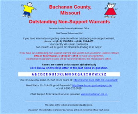 Mo Casenet Warrant Search Supportkidsbuchco Buchanan County Missouri