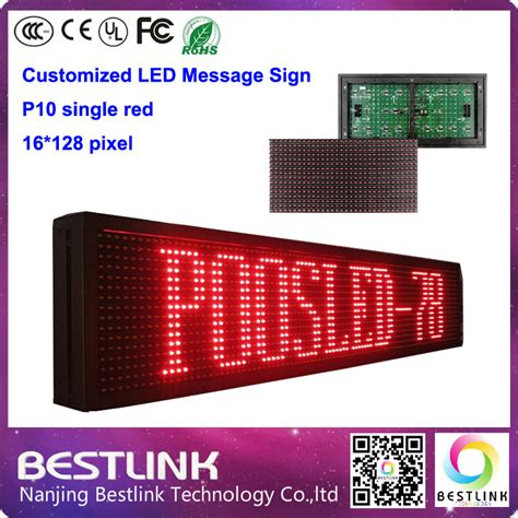 P10 Led Modul Semioutdoor Hijau 160 1280mm programable led message sign p10 led display module single outdoor running text