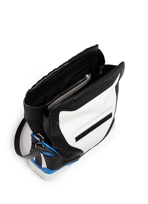 wang sneaker large leather shoulder bag in