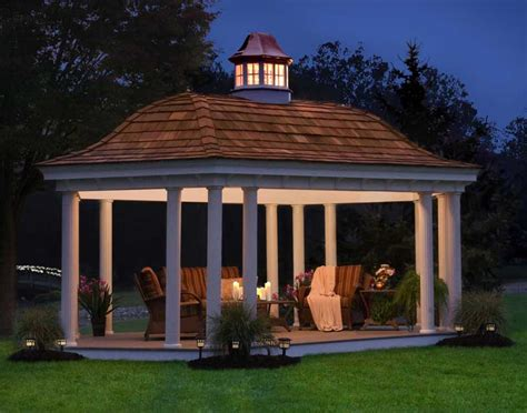 gazebo pictures vinyl roof elongated hexagon gazebos gazebos by