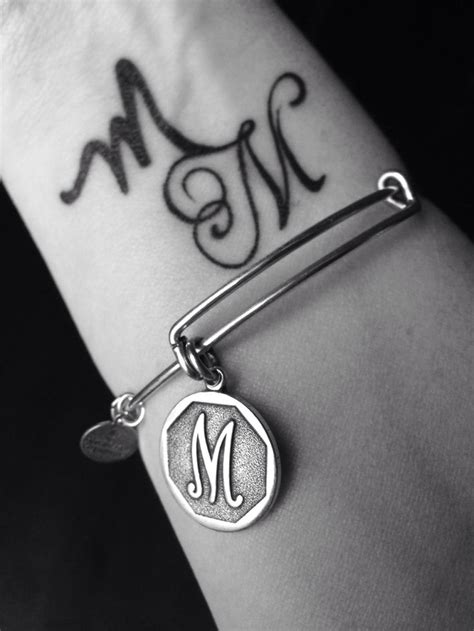 m and m tattoo the letter m designs letters font