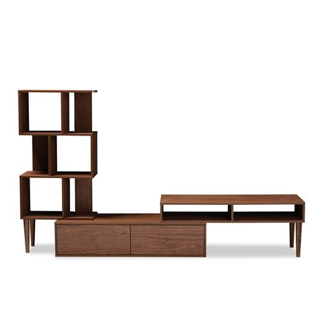 modern tv entertainment center baxton studio haversham mid century retro modern tv stand