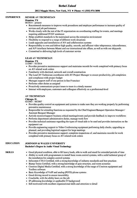 Av Specialist Sle Resume by Av Specialist Sle Resume Merit Increase Letter Template Gift Certificate Templates Free