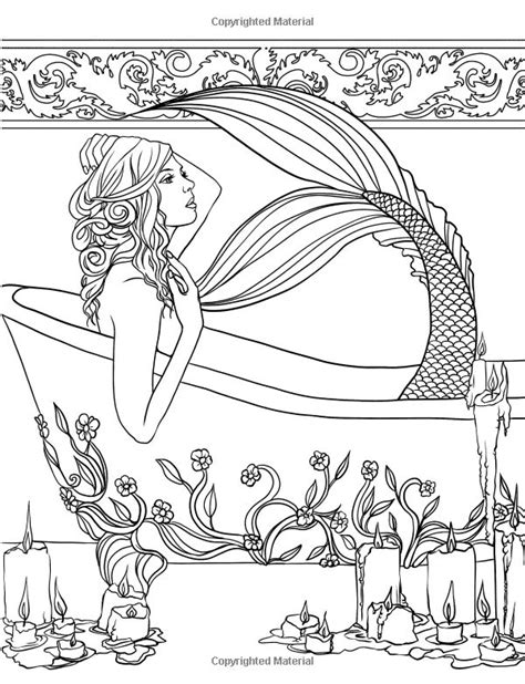 mermaids grayscale coloring book coloring books for adults books mermaids calm coloring collection selina fenech