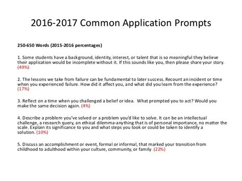 College Application Essay Starters the 2016 2017 college application landscape
