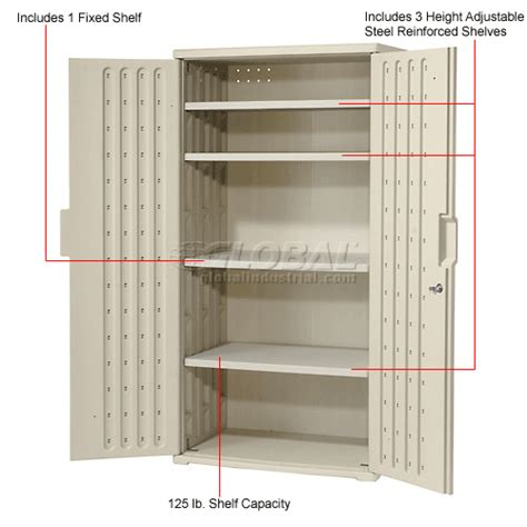 Kitchen Cabinet Shelf Plastic by Cabinets Plastic Plastic Storage Cabinet 36x22x72