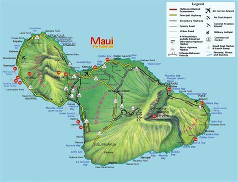 printable road map maui hawaii highways maui state roads and highways