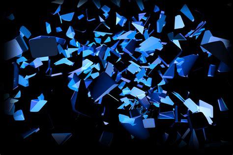 Blau Schwarz Explosionen leuchten Farben Scheiben cube