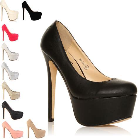 fashion high heels platform womens shoes size