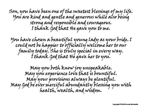 Wedding Blessing Speech by Of Groom Blessing Print Printable Of Groom