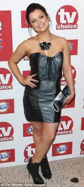 tv choice awards 2012 michelle keegan looks stunning in white as she wins best soap actress at