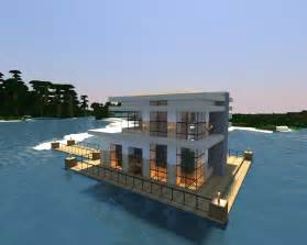 minecraft modern lake house modern lake house design