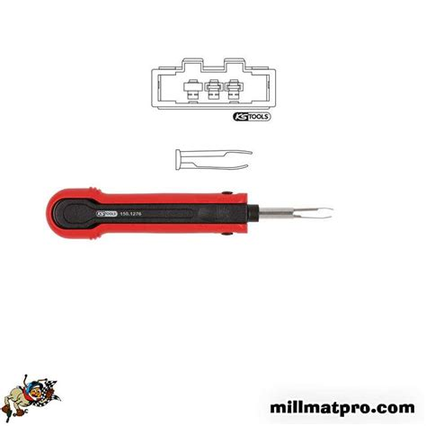 poste à souder 1276 extracteur de cosses pour connecteurs plats vw ks tools