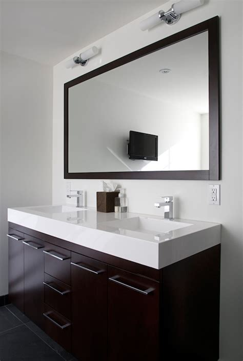 Modern Bathroom Countertops Floating Vanity Modern Bathroom Benjamin Cloud White Designer Friend