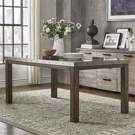 steel top dining table 25 best ideas about rectangle table centerpieces on