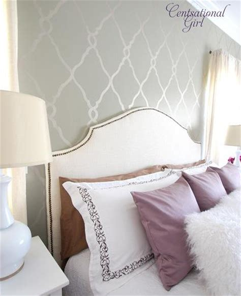 stencils for bedroom walls stenciled accent wall contemporary bedroom