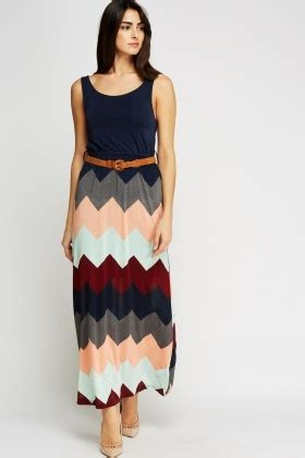 Zigzag Maxi Dress zig zag belted maxi dress just 163 5