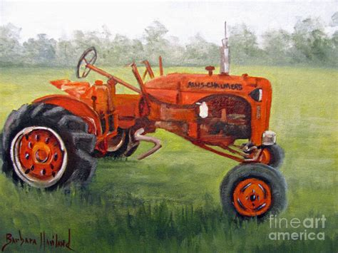 tractor painting papa s tractor painting by barbara haviland