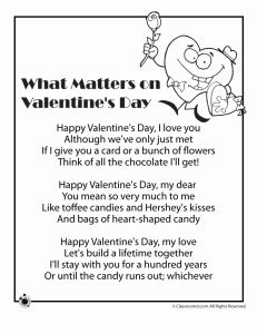 childrens valentines day poems poems what matters on s day