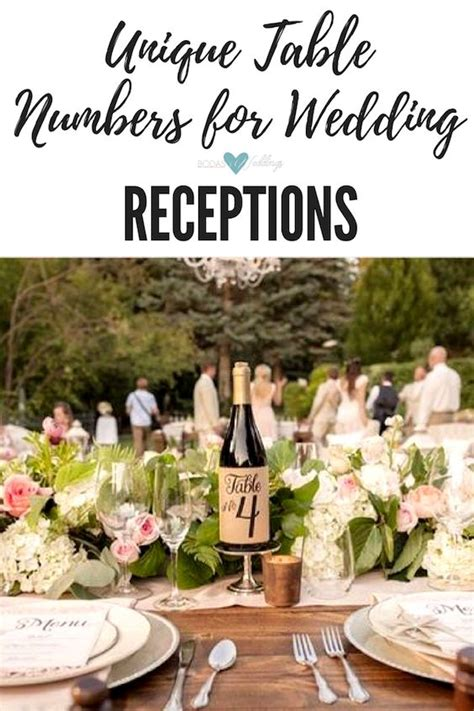 Unique Wedding Receptions by 51 Unique Table Number Ideas For Wedding Receptions And Diys