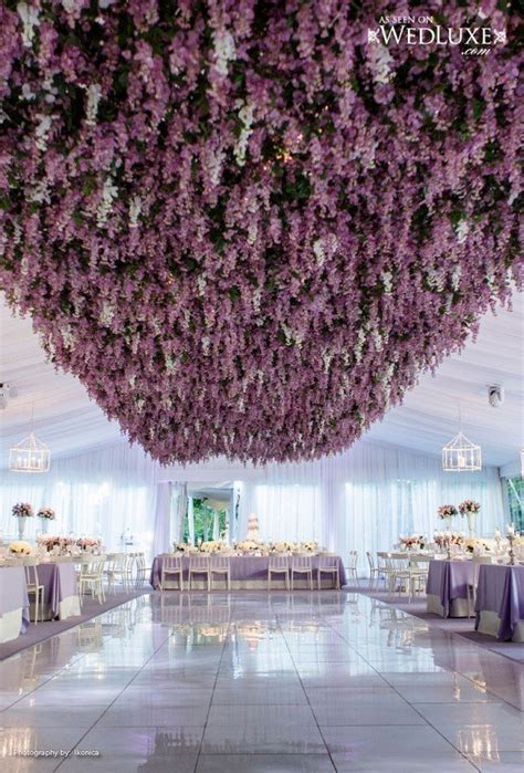 Trending 12 Fairytale Wedding Flower Ceiling Ideas for