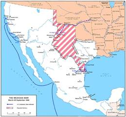 and mexican war map mexican american war map