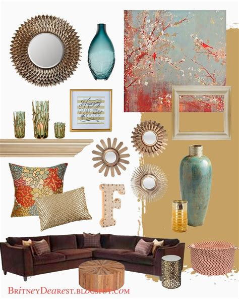 Teal And Brown Home Decor 17 Best Ideas About Coral Living Rooms On
