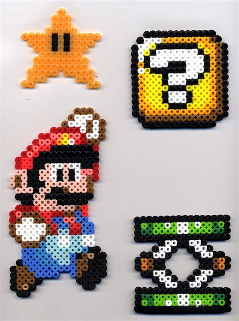 Mario Etc In Perler By Bluekecleon15 On Deviantart