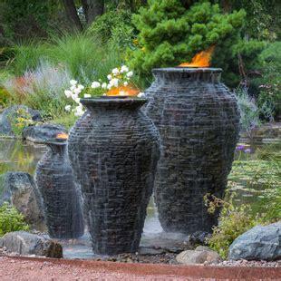 large stacked slate urn fountain aquascape