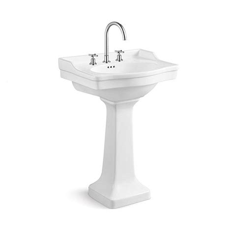 pedestal with built in backsplash 43 best images about bathroom on pinterest kingston