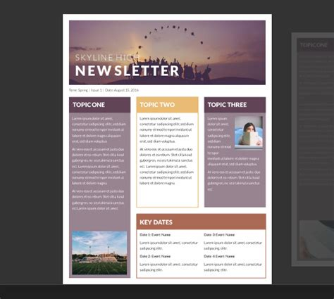 15 Free Microsoft Word Newsletter Templates For Teachers School Xdesigns Word Document Newsletter Templates Free