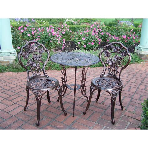 bistro set patio patio furniture set 3 bistro wrought small iron