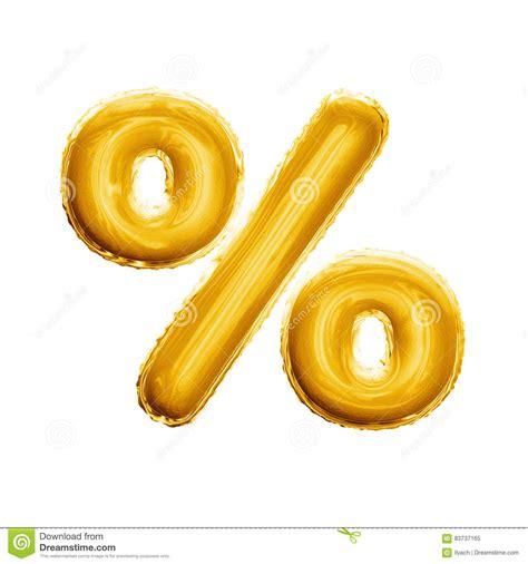 Balon Foil Sign balloon percentage sign symbol 3d golden foil realistic