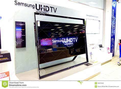 display tv samsung uhdtv television editorial stock photo image