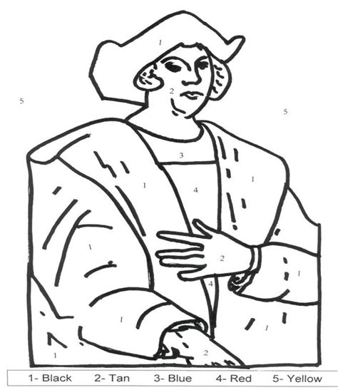 christopher columbus coloring pages coloring home
