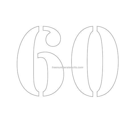 stencil template free 10 inch 60 number stencil freenumberstencils