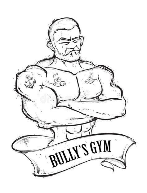 bully s tattoos bullys stock vector illustration of vintage vector