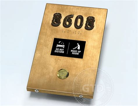 metal doorplate electronic room signage doorbell make
